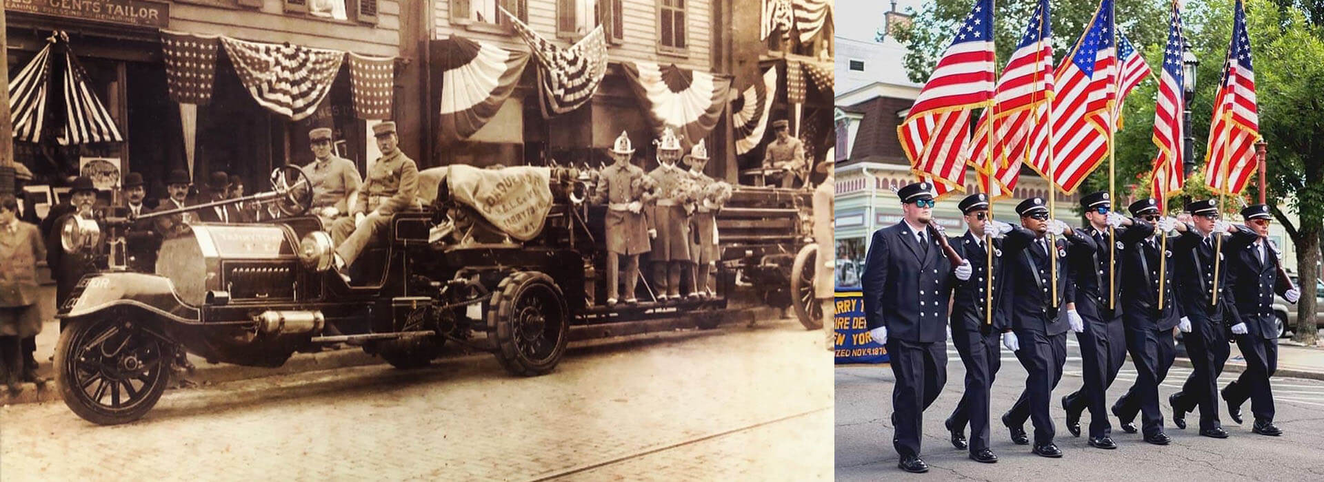 Tarrytown parade - past and present